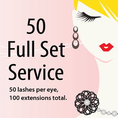 50 Lashes Full Set Service