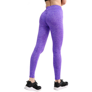Fashion Push Up Quick Drying Women Leggings V shape