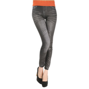 Comfortable Skinny Denim Leggings One Size