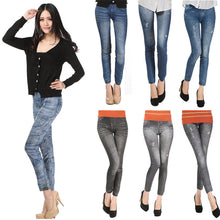Load image into Gallery viewer, Comfortable Skinny Denim Leggings One Size