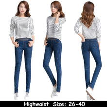Load image into Gallery viewer, Women Casual Demin Solid Slim Jeans Pencil Leggings