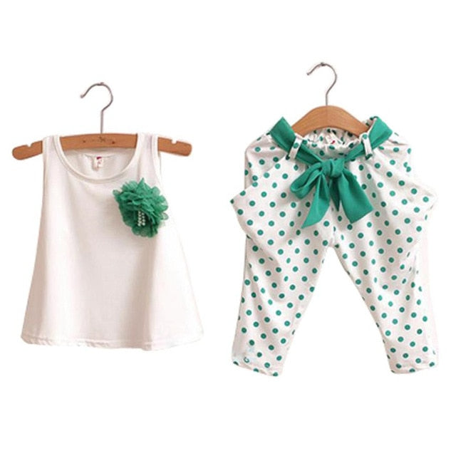 Summer Baby Girl Outfit Set Age 2-6 Year