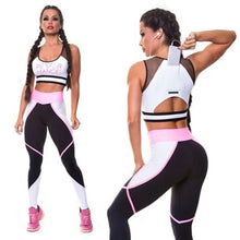 Load image into Gallery viewer, Fitness Suit/Leggings and Mesh Top/ For All Sport Activities