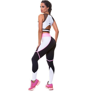 Fitness Suit/Leggings and Mesh Top/ For All Sport Activities