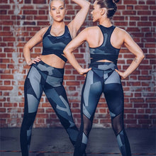 Load image into Gallery viewer, Women Fitness Sets Sport Bra Shorts Leggings Sportswear Suits Running Workout Gym Wear Tight Slim Training Suit
