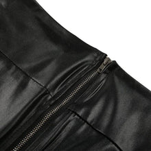 Load image into Gallery viewer, Stylish Thin Faux Black Leather Stretchy Leggins With Back Zipper