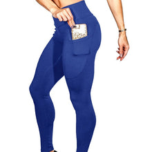 Load image into Gallery viewer, High Waist Spandex Leggings With Phone Pocket