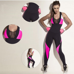 Compressed Sports/Gym Tracksuit Backless Mesh One Piece