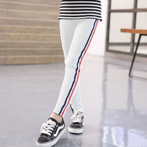 Kids Girl Leggings Solid Color Pencil Sport Trousers