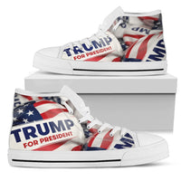 Trump Button Womens High Top Shoes - DonaldTrumpStoreUSA_com