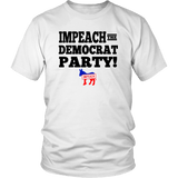 Impeach The Democrat Party Unisex T-Shirt - DonaldTrumpStoreUSA_com