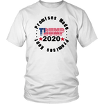 Trump 2020 Promises Made and Kept Unisex T-Shirt - DonaldTrumpStoreUSA_com