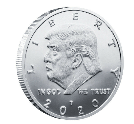 President Donald Trump Silver Plated Eagle 2020 Commemorative Coin 2pcs - DonaldTrumpStoreUSA_com