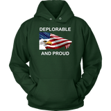 Deplorable And Proud Unisex Hoodie - DonaldTrumpStoreUSA_com