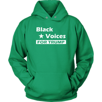 Black Voices For Trump Unisex Hoodie - DonaldTrumpStoreUSA_com
