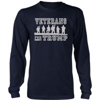 Veterans For Trump Unisex Long Sleeve Shirt - DonaldTrumpStoreUSA_com