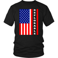 Flag Deplorable Unisex T-Shirt - DonaldTrumpStoreUSA_com