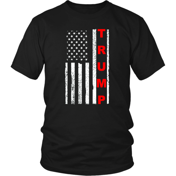 Trump Vertical Flag Unisex T-Shirt Red - DonaldTrumpStoreUSA_com