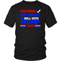 Proud Deplorable 2020 Unisex T-Shirt - DonaldTrumpStoreUSA_com