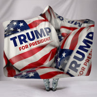 Trump Button Hooded Blanket - DonaldTrumpStoreUSA_com