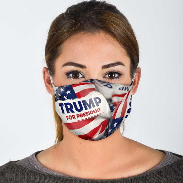 Trump Button Face Mask - DonaldTrumpStoreUSA_com