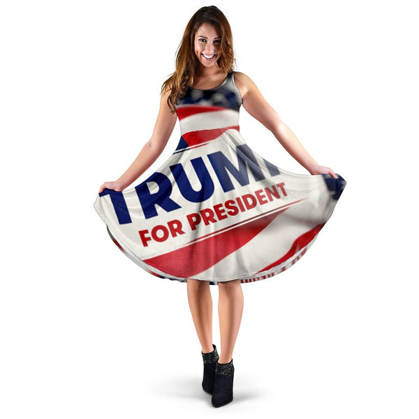 Trump Button Dress - DonaldTrumpStoreUSA_com