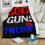 God Guns and Trump Premium Blanket - DonaldTrumpStoreUSA_com