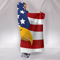 USA Eagle Hooded Blanket - DonaldTrumpStoreUSA_com