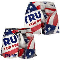 Trump Button Women's Shorts - DonaldTrumpStoreUSA_com
