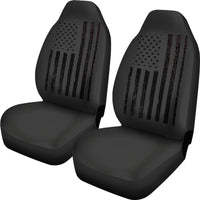 USA Flag Black Car Seat Covers - DonaldTrumpStoreUSA_com