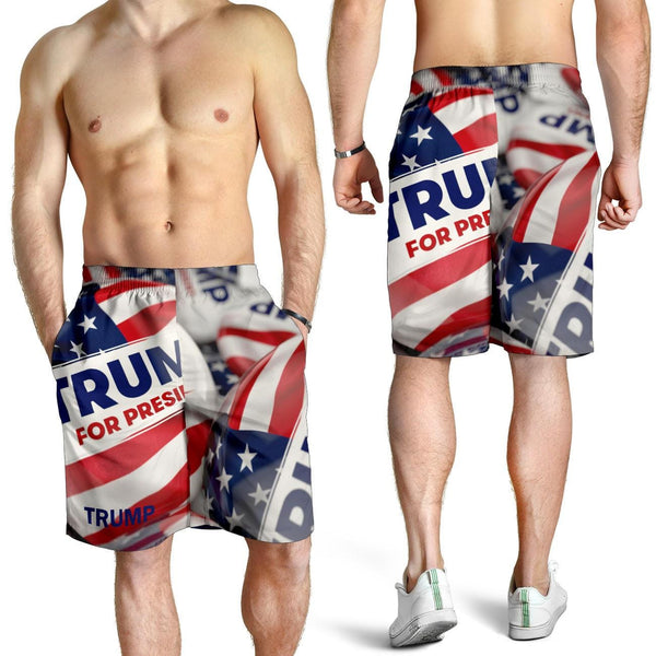 Trump Button Men's Shorts - DonaldTrumpStoreUSA_com