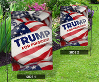 Trump Button Vertical Flags - DonaldTrumpStoreUSA_com