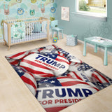 Trump Button Area Rug - DonaldTrumpStoreUSA_com