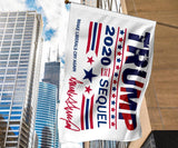 Trump 2020 The Sequel Vertical Flags - DonaldTrumpStoreUSA_com