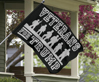 Veterans For Trump Vertical Flags - DonaldTrumpStoreUSA_com