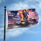Hot Donald Trump on Tank 3x5 Flag - DonaldTrumpStoreUSA_com