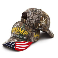 New Donald Trump 2020 Cap with Flag Bill - DonaldTrumpStoreUSA_com