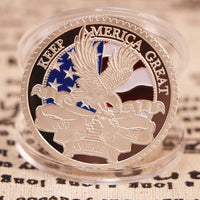 Trump 2020 Silver Plated Keep America Great Coin - DonaldTrumpStoreUSA_com
