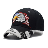 USA Flag Eagle Embroidery Cap - DonaldTrumpStoreUSA_com