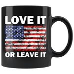 America Love It 11oz Mug Black - DonaldTrumpStoreUSA_com