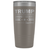 Trump 2020 The Sequel 20 Ounce Vacuum Tumbler - DonaldTrumpStoreUSA_com