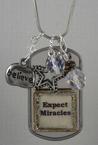 "Necklace - ""Expect Miracles"""