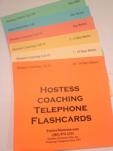 Hostess Coaching Telephone Flashcards