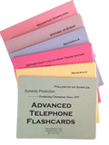 Advanced Telephone Flashcards - Bulk Order (5 for $50)