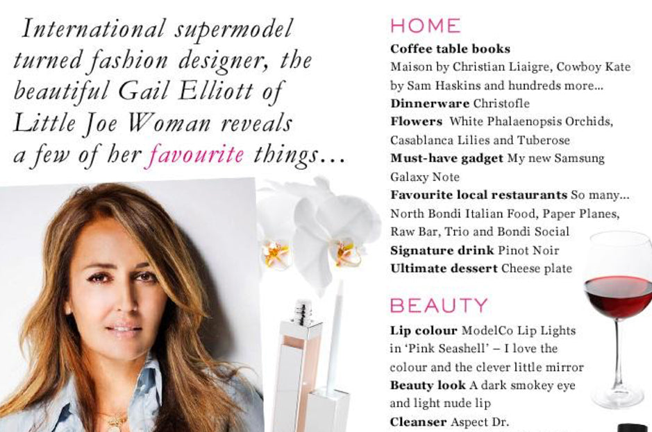 Gail Elliott Reveals Her Favourite Things