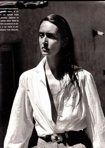Gail in white shirt 90s Italian Marie Claire magazine