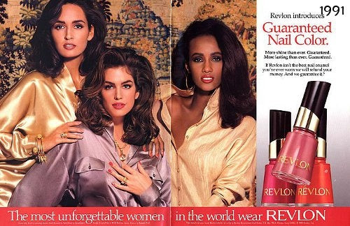 Gail Elliott, Cindy Crawford & Iman for Revlon