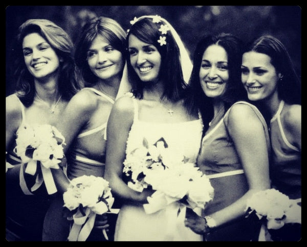 Gail Elliott and her bridesmaids