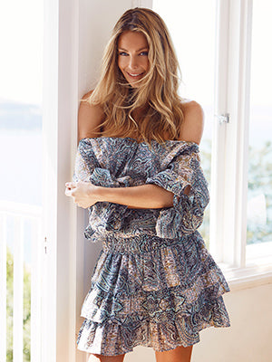Jennifer Hawkins-Little Joe Woman by Gail Elliott- Spirit of Summer Dress