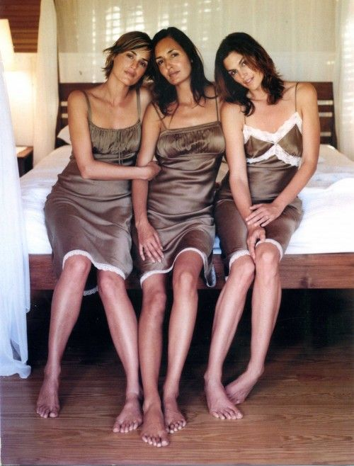 First photoshoot - Gail Elliott, Cindy Crawford and Yasmin Le Bon